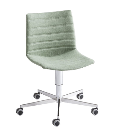 Kanvas Full Side Chair c/w Wheels-Gaber-Contract Furniture Store