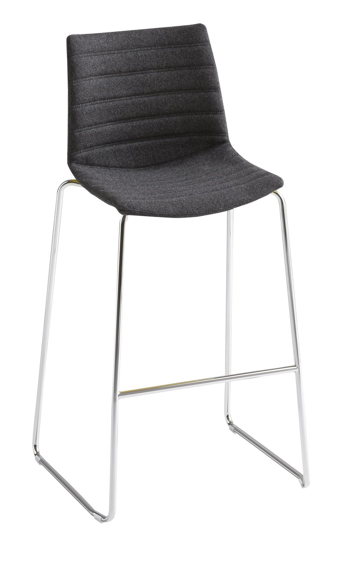 Kanvas Full High Stool c/w Sled Legs-Gaber-Contract Furniture Store