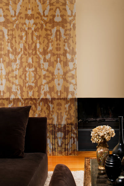 Persia Gold Chain Curtain Divider-Kriskadecor-Contract Furniture Store
