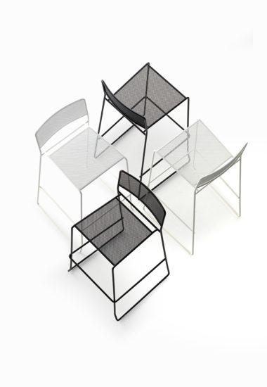 Log Mesh High Stool-Arrmet-Contract Furniture Store