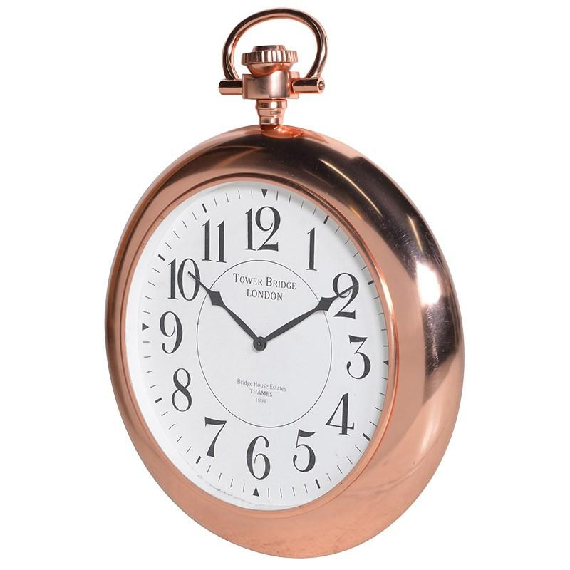 Copper TB Wall Clock-Coach House-Contract Furniture Store