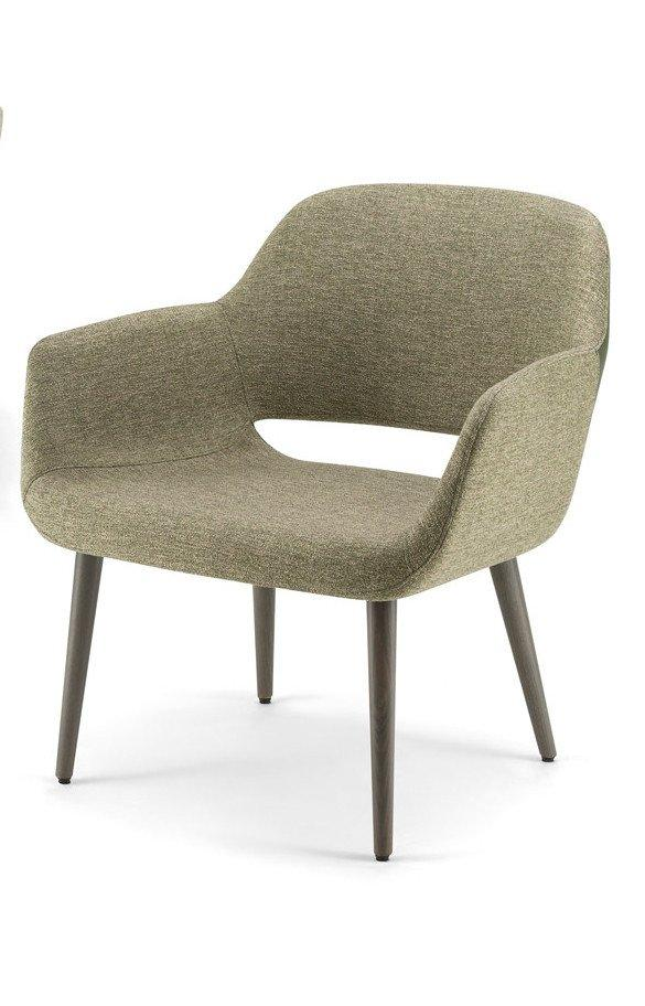 Magda 05 Lounge Chair c/w Wood Legs-Torre-Contract Furniture Store