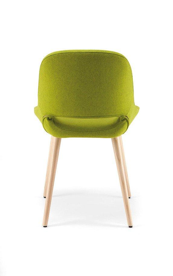 Magda 00 Compact Side Chair c/w Wood Legs-Torre-Contract Furniture Store