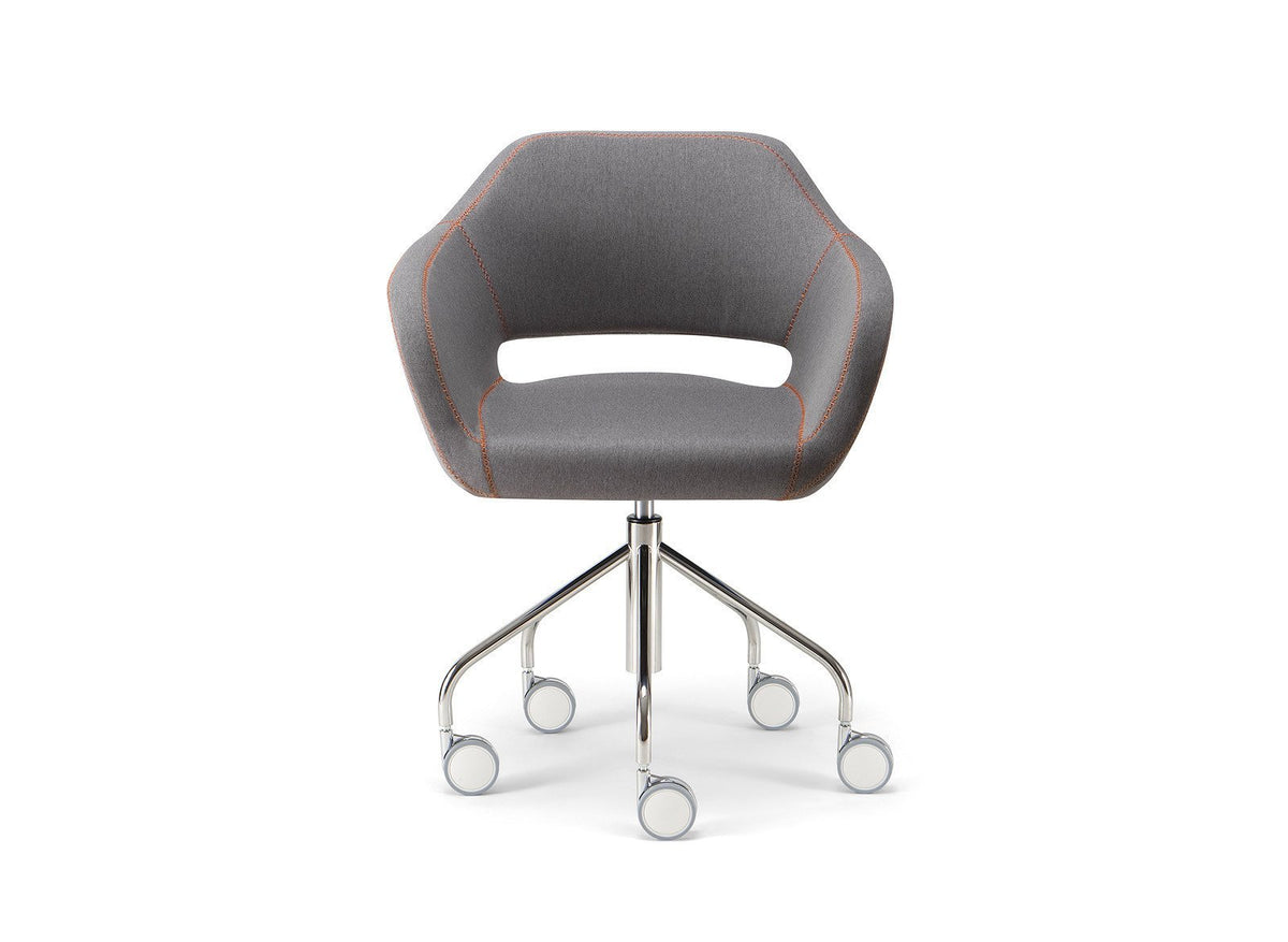 Manu 04 Armchair c/w Wheels 2-Torre-Contract Furniture Store