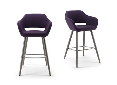 Manu 07 High Stool c/w Wood Legs-Torre-Contract Furniture Store