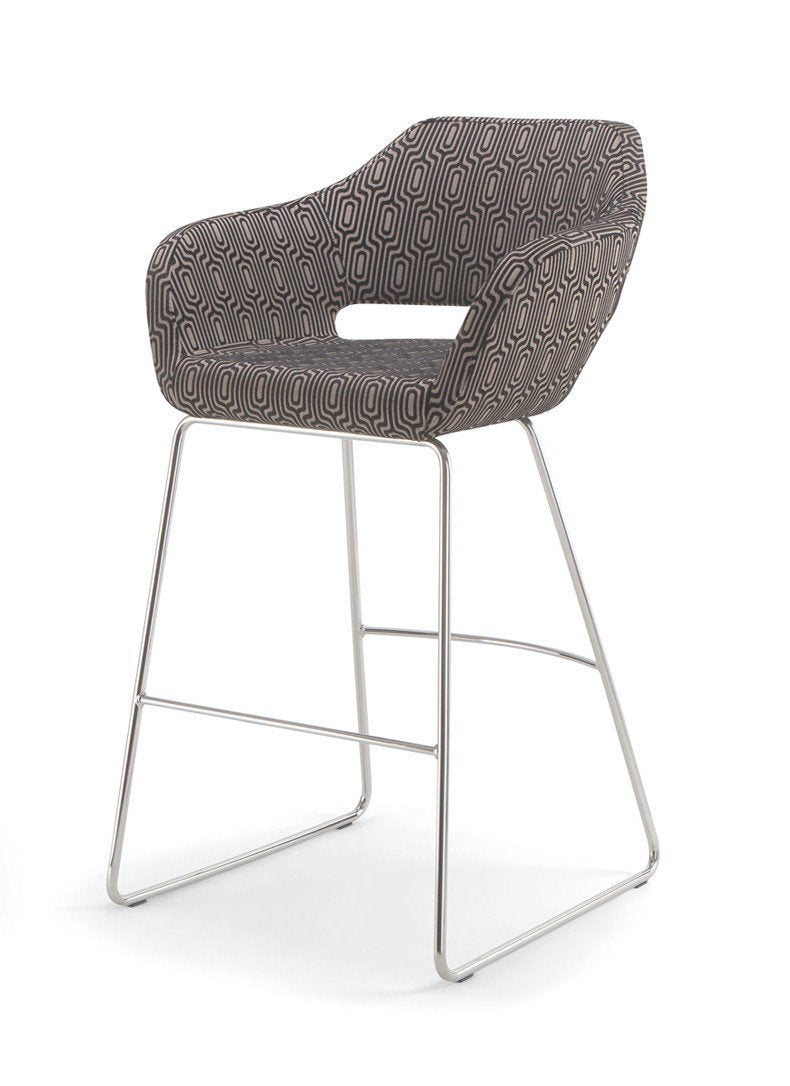 Manu 07 High Stool c/w Sled Legs-Torre-Contract Furniture Store