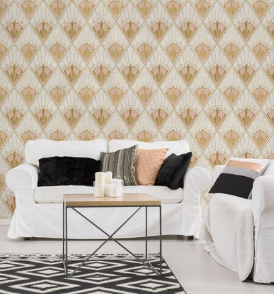 Revival Taupe Wallpaper-Mind The Gap-Contract Furniture Store