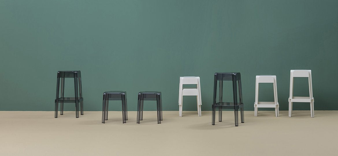 Rubik 583 Low Stool-Pedrali-Contract Furniture Store