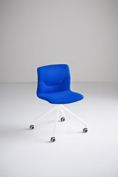 Slot Side Chair c/w Spider Wheels-Gaber-Contract Furniture Store