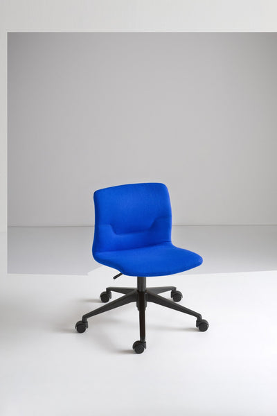 Slot Side Chair c/w Wheels 2-Gaber-Contract Furniture Store
