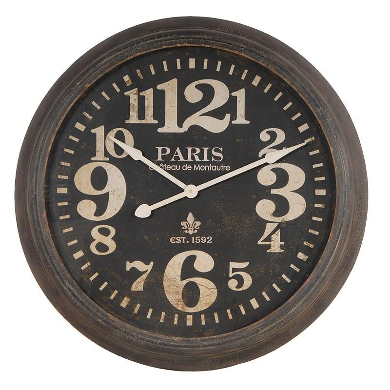 Distressed Paris Wall Clock-Coach House-Contract Furniture Store
