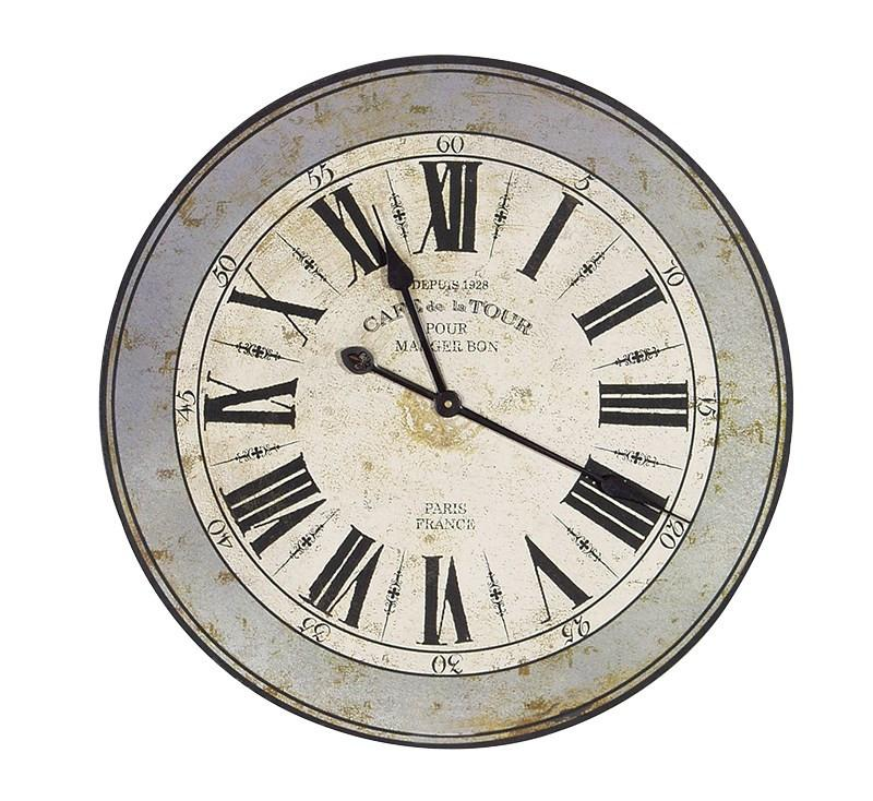Distressed CT Wall Clock-Coach House-Contract Furniture Store