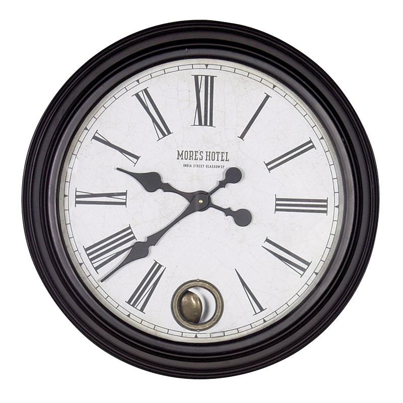 Black MH Wall Clock-Coach House-Contract Furniture Store