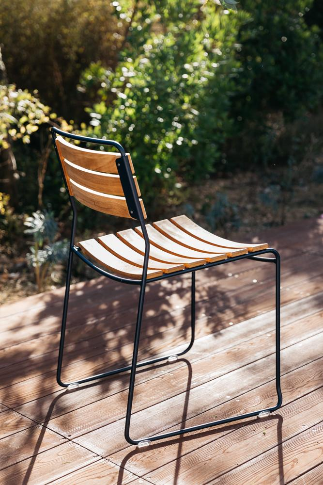 Surprising Teak Side Chair-Fermob-Contract Furniture Store