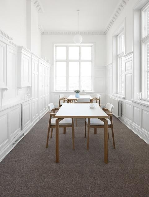 Mix Dining Table c/w Wood Leg-Magnus Oleson-Contract Furniture Store