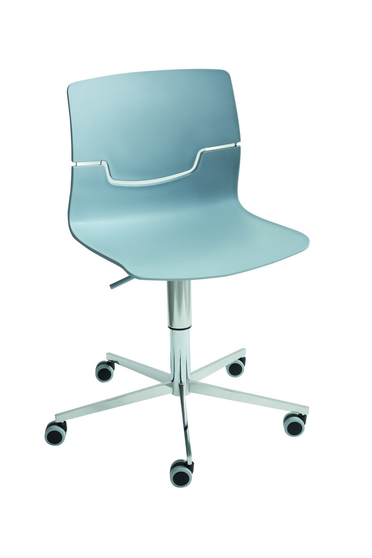 Slot Side Chair c/w Wheels-Gaber-Contract Furniture Store