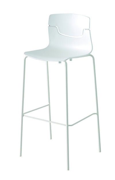 Slot High Stool c/w Metal Legs-Gaber-Contract Furniture Store