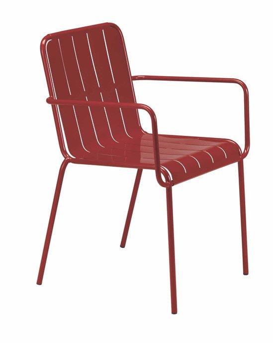 Stripes Armchair-Metalmobil-Contract Furniture Store