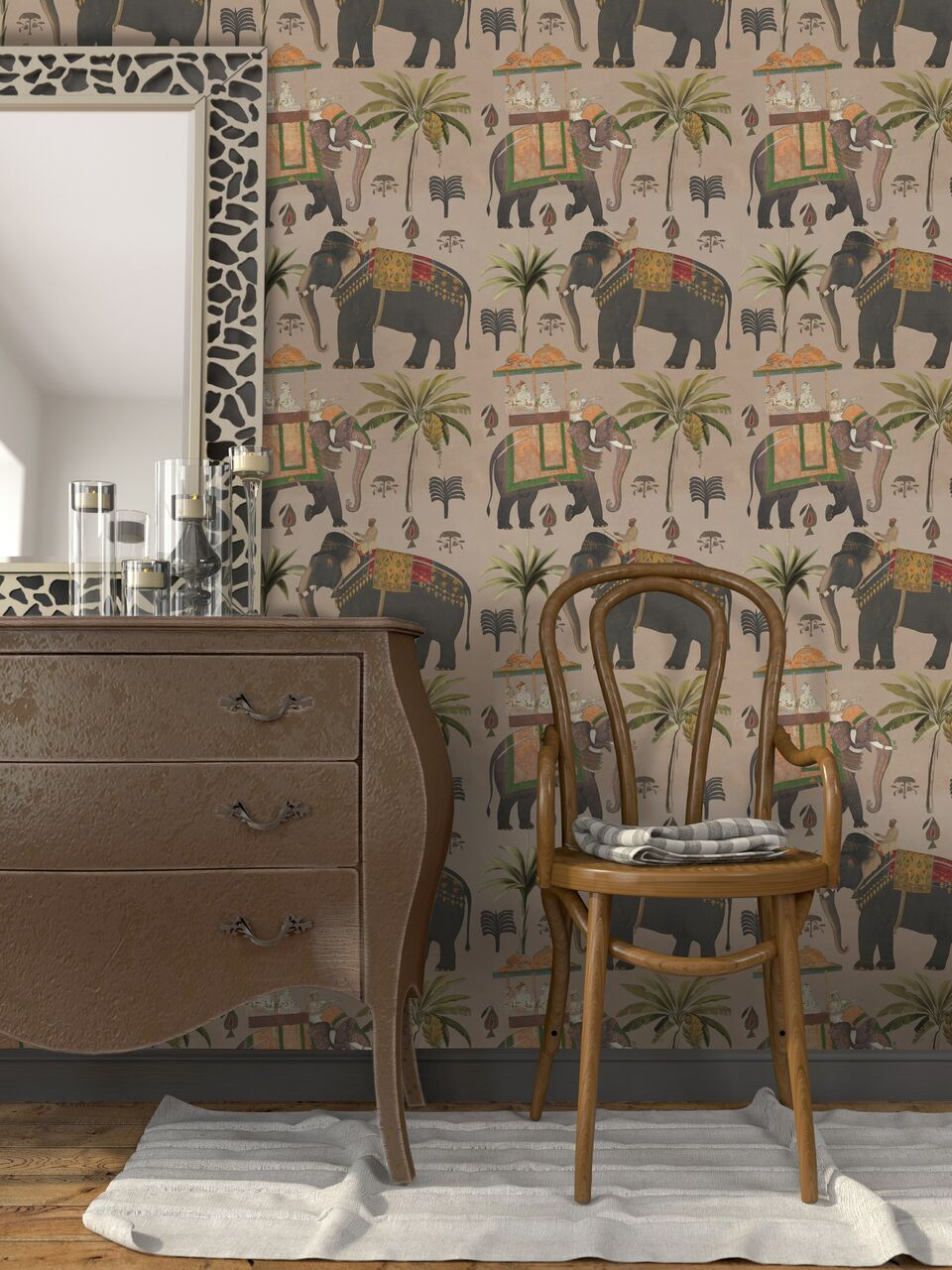 The Procession Taupe Wallpaper-Mind The Gap-Contract Furniture Store