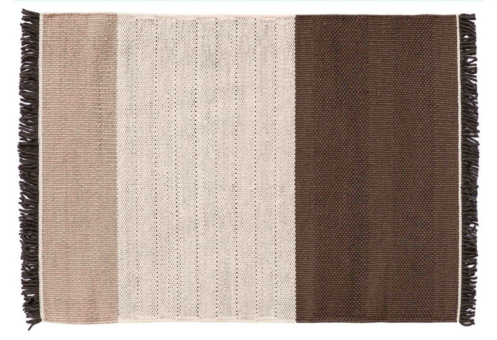 Tres Stripes Chocolate Rug-Nanimarquina-Contract Furniture Store