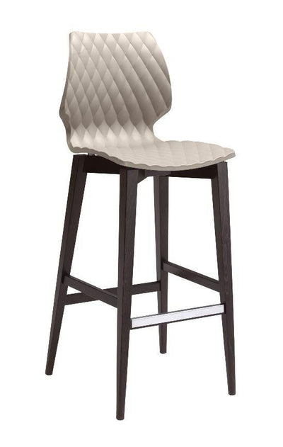 Uni High Stool c/w Wood Legs-Metalmobil-Contract Furniture Store