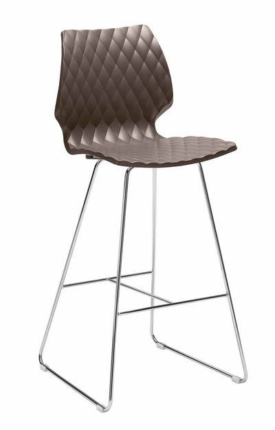 Uni High Stool c/w Sled Legs-Metalmobil-Contract Furniture Store