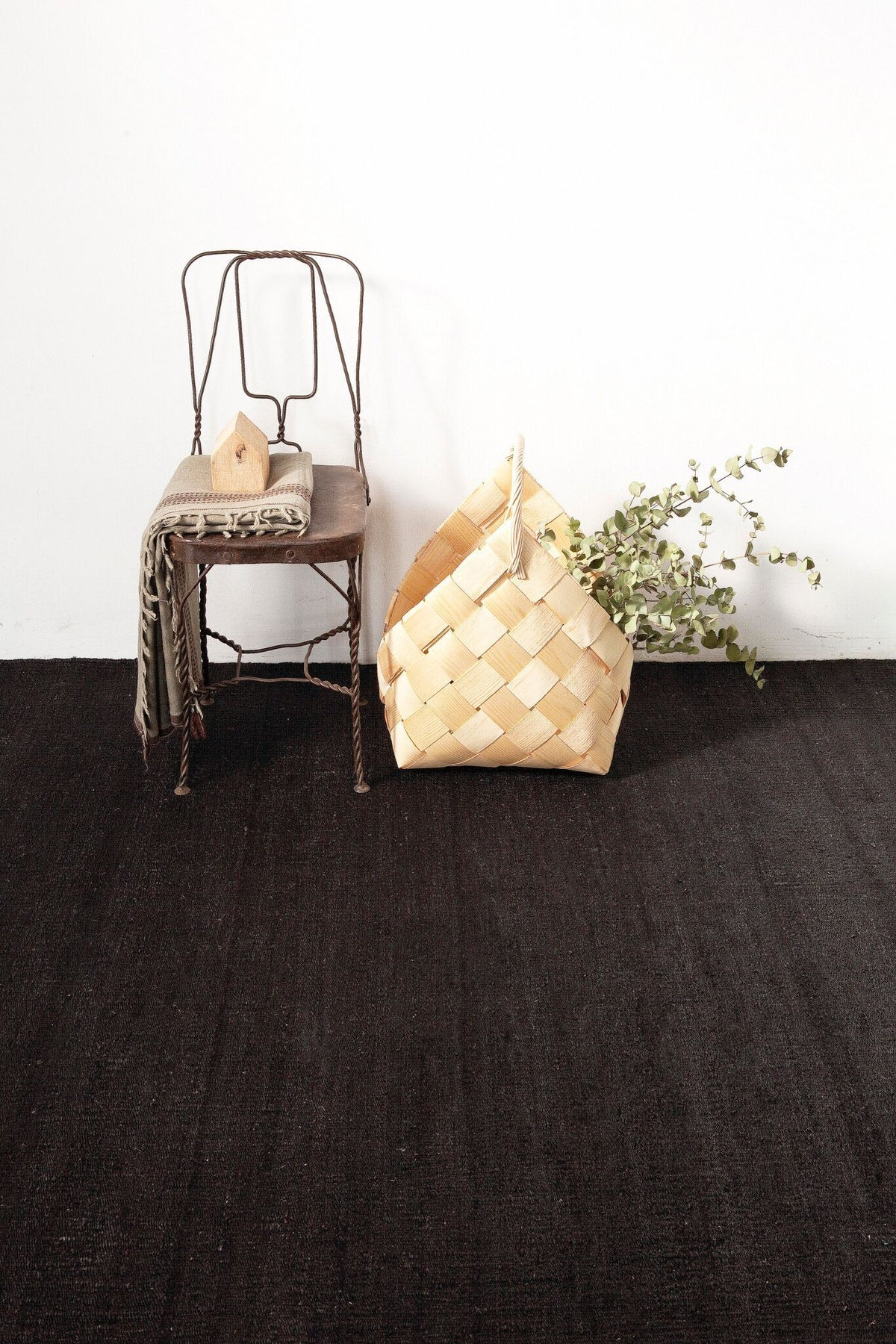 Natural Vegetal Black Rug-Nanimarquina-Contract Furniture Store