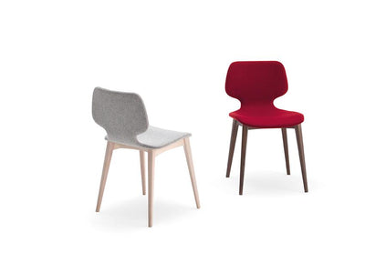 Baby D Side Chair c/w Wood Legs-Copiosa-Contract Furniture Store