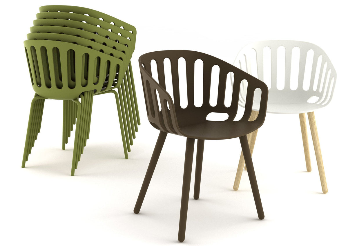 Basket Armchair c/w Metal Legs-Gaber-Contract Furniture Store