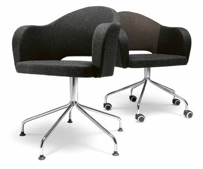 Agatha Armchair c/w Wheels-Metalmobil-Contract Furniture Store