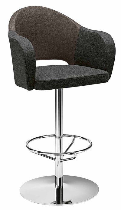 Agatha High Stool c/w Swivel Base-Metalmobil-Contract Furniture Store