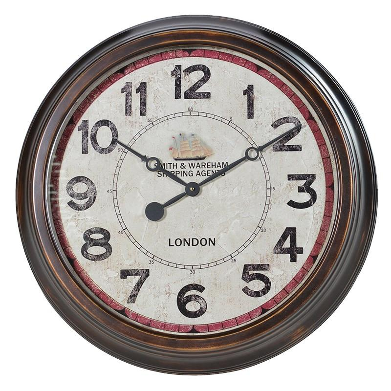 Distressed SW Wall Clock-Coach House-Contract Furniture Store