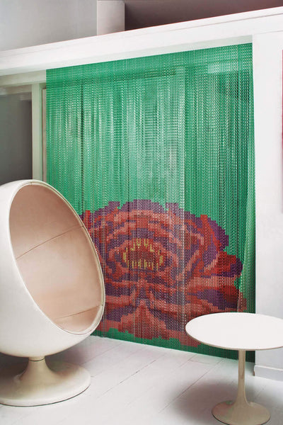 Mint Lotus Chain Curtain Divider-Kriskadecor-Contract Furniture Store