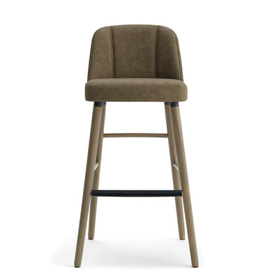 Yvonne Wood High Stool-Laco-Contract Furniture Store