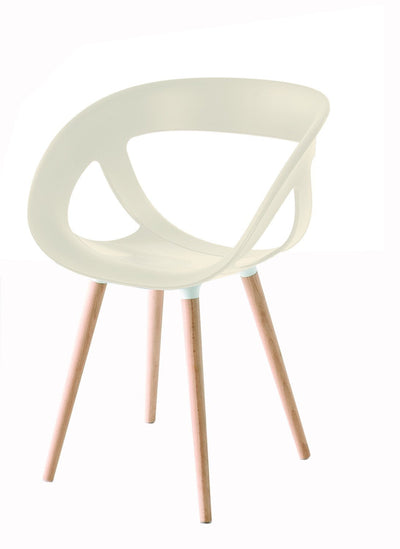 Moema Side Chair c/w Wood Legs-Gaber-Contract Furniture Store