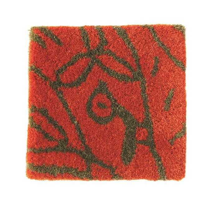 Bichos Y Flores Orange Rug-Nanimarquina-Contract Furniture Store