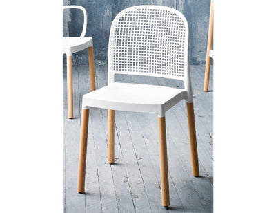 Panama Side Chair c/w Wood Legs-Gaber-Contract Furniture Store