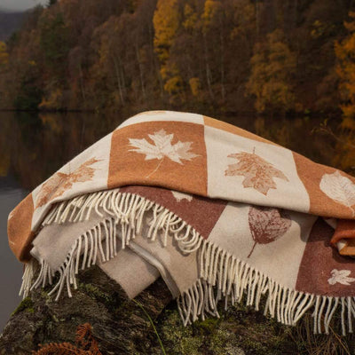 Highland Cow Throw Rust-Isle Mill-Contract Furniture Store