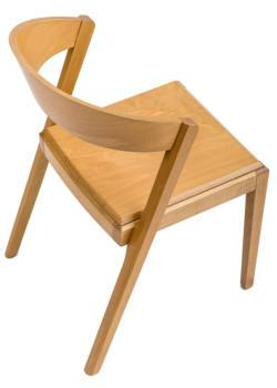 Zanna New Wood C410 Side Chair-EsseTi Design-Contract Furniture Store