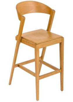 Zanna New Wood C409 High Stool-EsseTi Design-Contract Furniture Store