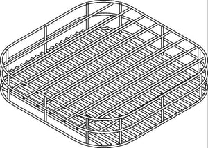 Rack Dish 435mm 9Div Wire/Plastic