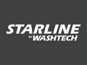 Label Starline Polyurethane Glossy Blue Text on Si