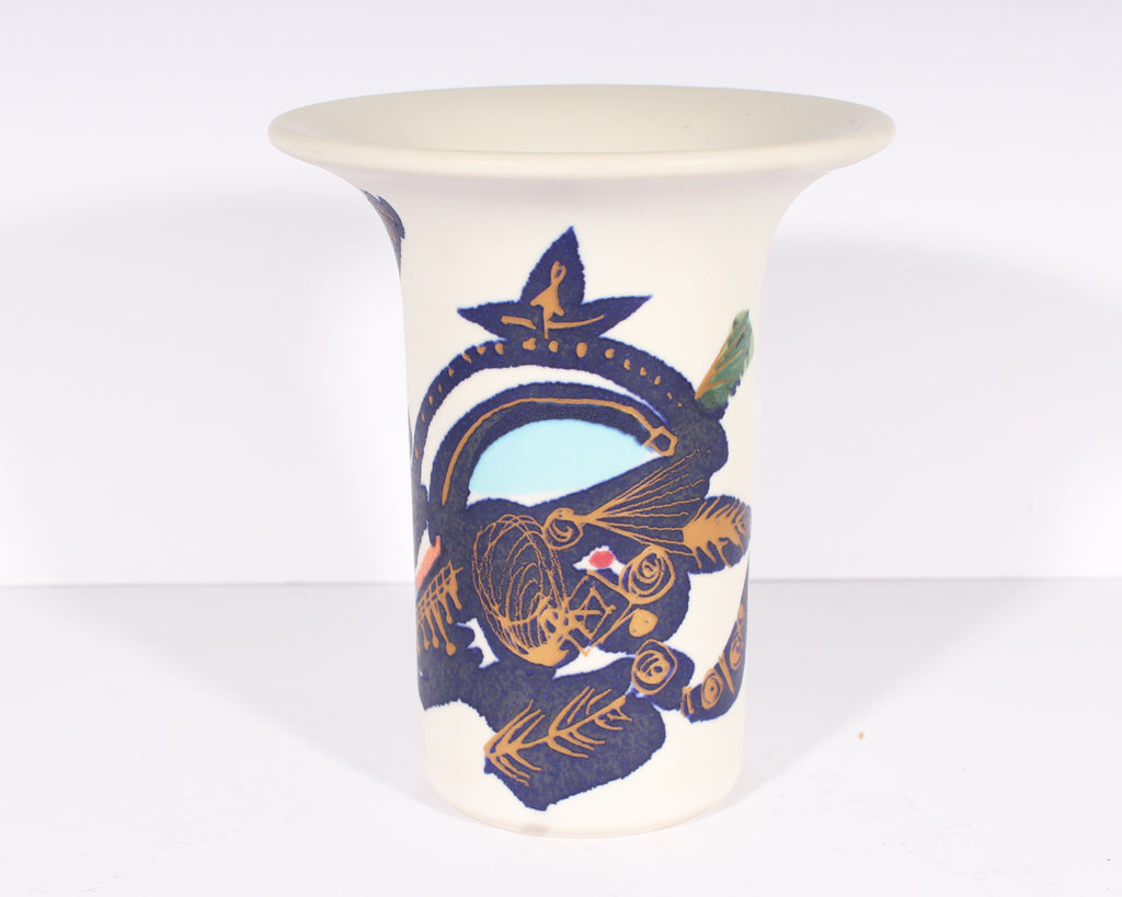 Gilbert Portanier for Rosenthal Porcelain Bud Vase