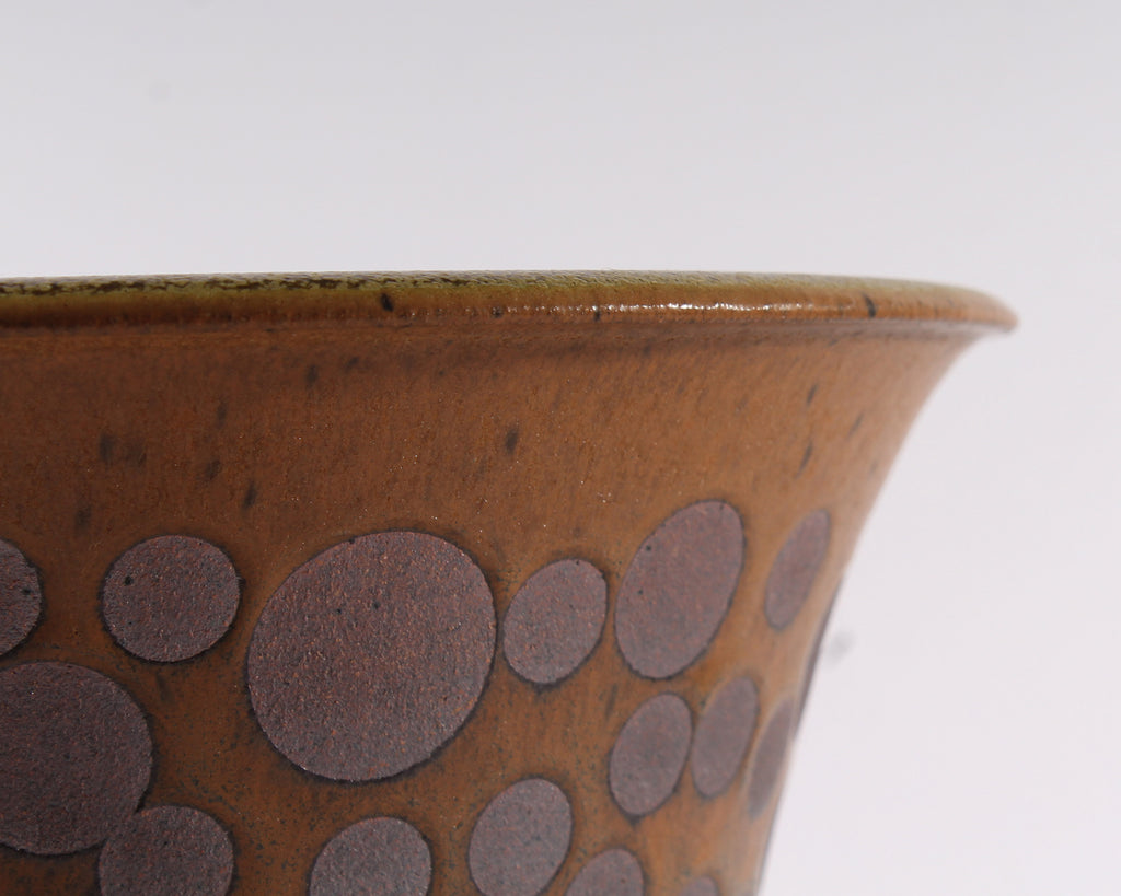 George Roby Stoneware Pot with Circle Design