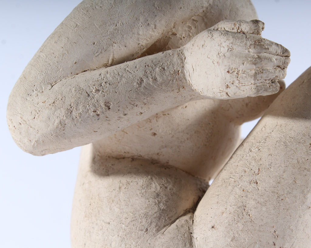 Henri Albert Lagriffoul Signed Clay Sculpture of a Nude Woman