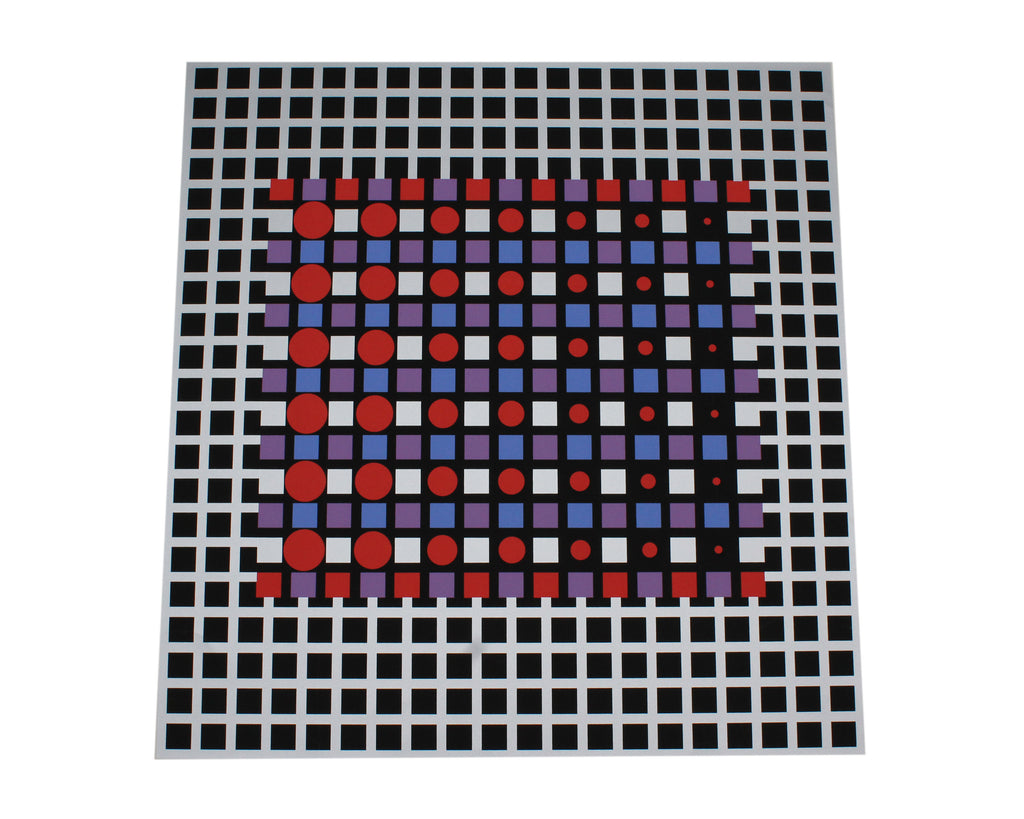 Victor Vasarely 1989 Signed Limited Edition Serigraph Print