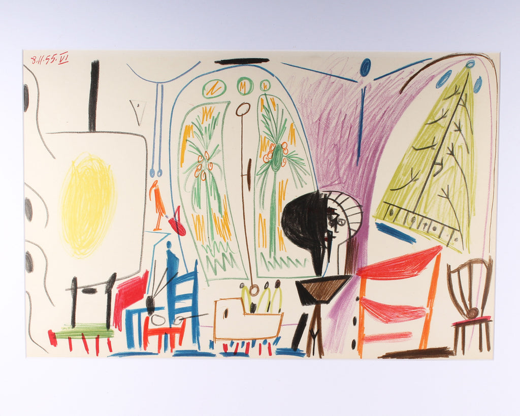 "Pablo Picasso 1959 Lithograph After ""Carnet de la Californie"""