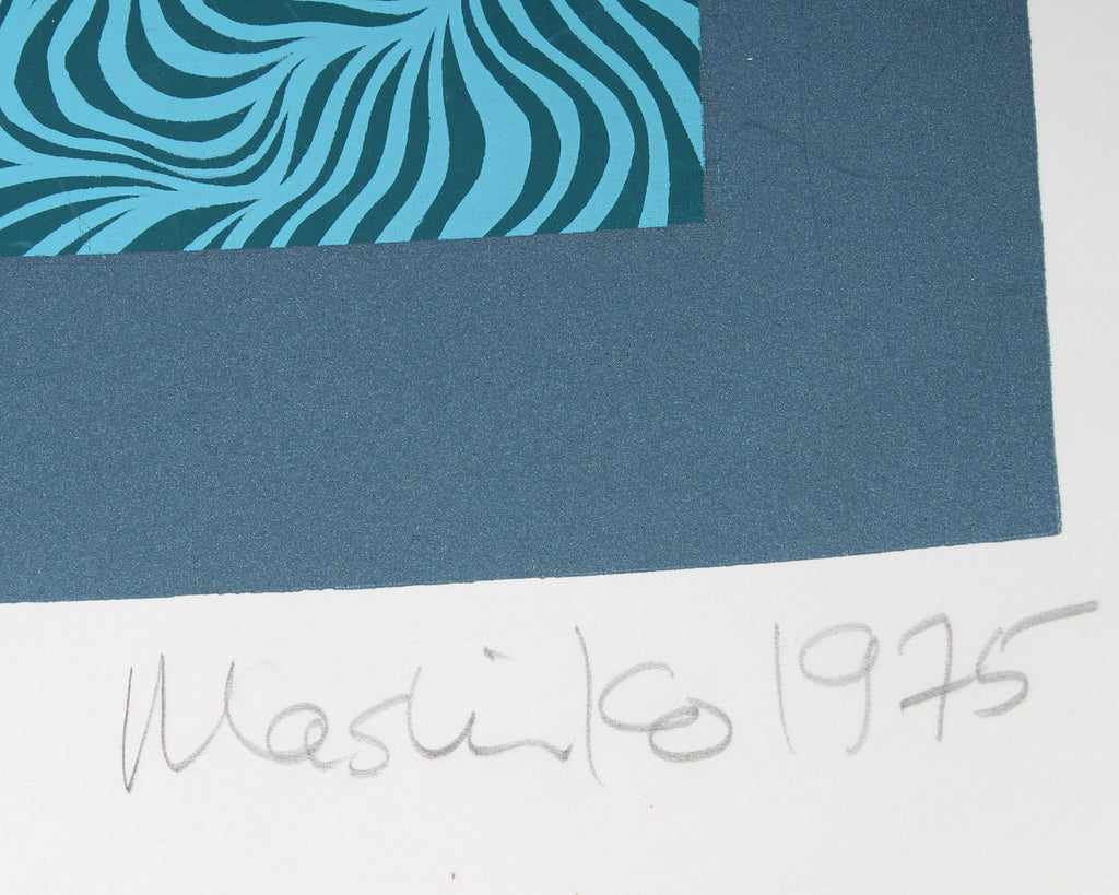 Mashiko 1975 Signed Limited Edition Abstract Serigraph