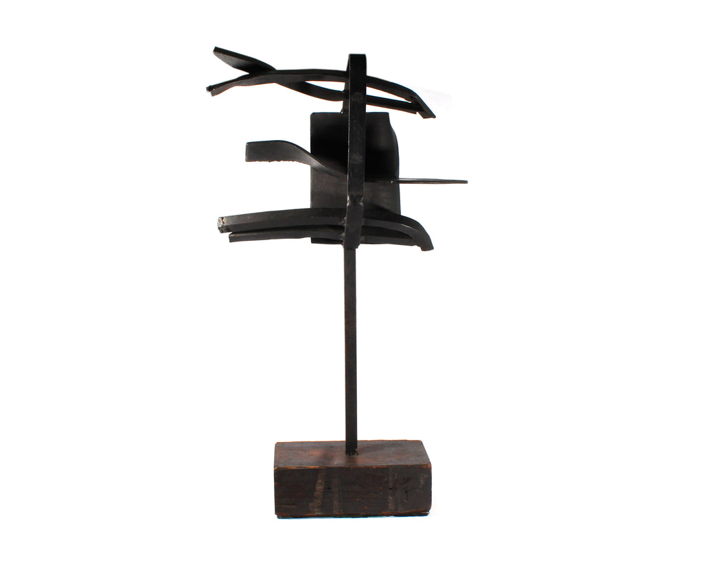 Jim Summers Brutalist Found Object Abstract Metal Sculpture