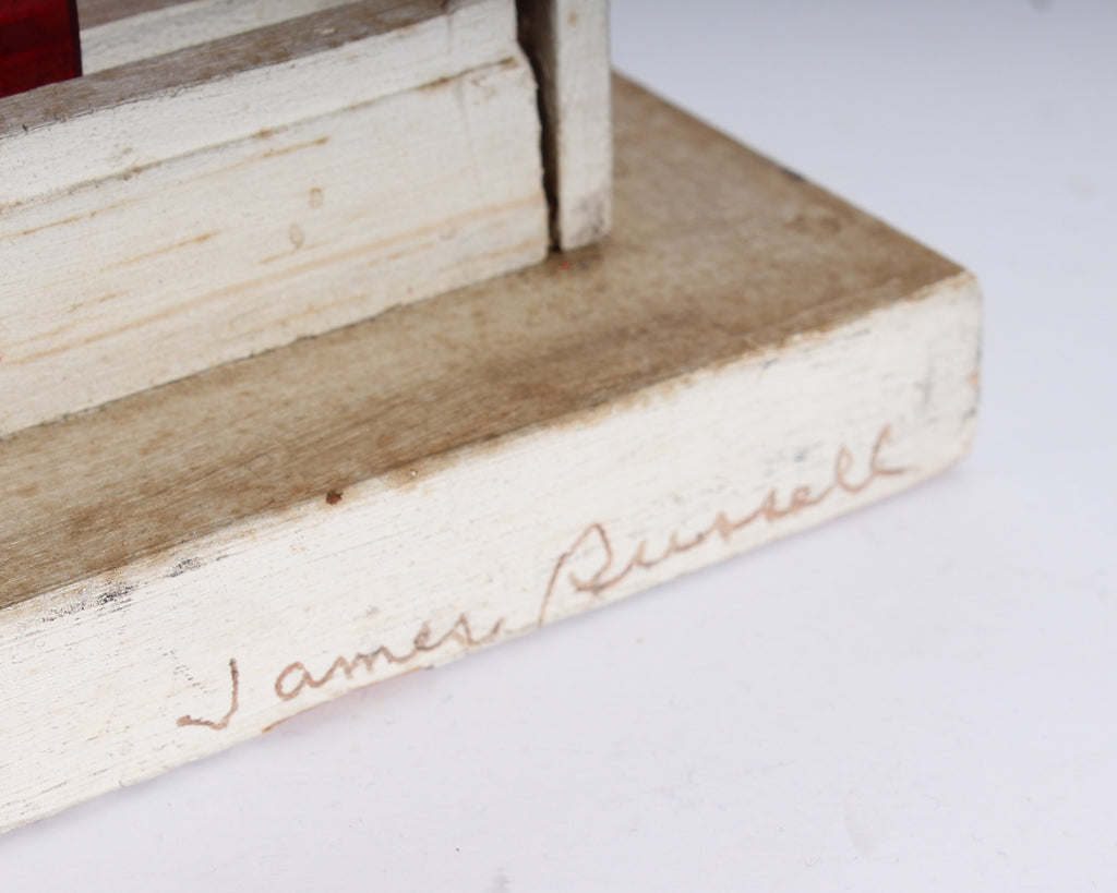 James Spencer Russell Signed Found Object Collage and Assemblage Sculpture
